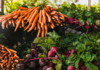 farmers market, vegetables, fruit